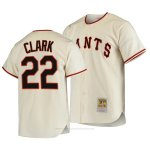 Camiseta Beisbol Hombre San Francisco Giants Will Clark Autentico Cooperstown Collection Primera 1954 Crema