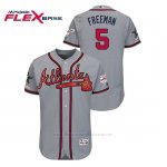 Camiseta Beisbol Hombre Atlanta Braves Freddie Freeman 2019 All Star Flex Base Gris