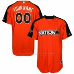 Camiseta Beisbol Hombre National League 2017 MLB All-Star Game Personalizada Naranja