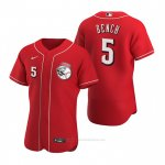Camiseta Beisbol Hombre Cincinnati Reds Johnny Bench Autentico 2020 Alterno Rojo