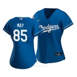 Camiseta Beisbol Mujer Los Angeles Dodgers Dustin May 2020 Alterno Replica Azul