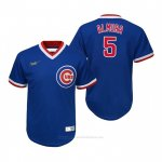 Camiseta Beisbol Nino Chicago Cubs Albert Almora Jr. Cooperstown Collection Road Azul