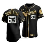 Camiseta Beisbol Hombre Washington Nationals Sean Doolittle Golden Edition Autentico Negro Oro