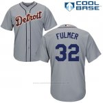 Camiseta Beisbol Hombre Detroit Tigers 32 Michael Fulmer Gris Cool Base