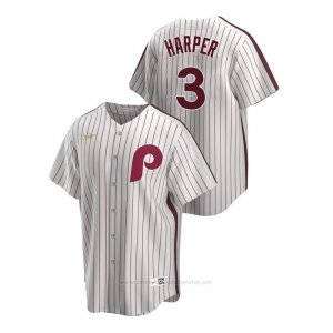 Camiseta Beisbol Hombre Philadelphia Phillies Bryce Harper Cooperstown Collection Primera Blanco