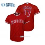 Camiseta Beisbol Nino Los Angeles Angels Shohei Ohtani Cool Base Majestic Replica Alternato Rojo