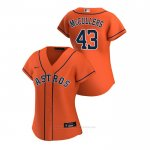 Camiseta Beisbol Mujer Houston Astros Lance Mccullers 2020 Replica Alterno Naranja