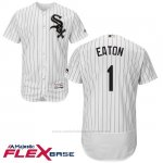 Camiseta Beisbol Hombre Chicago White Sox 1 Adam Eaton Blanco Autentico Coleccion Flex Base