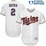 Camiseta Beisbol Hombre Minnesota Twins 2 Brian Dozier Blanco Cool Base