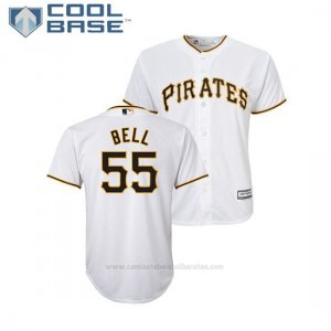 Camiseta Beisbol Nino Pittsburgh Pirates Josh Bell Cool Base Majestic Primera Blanco