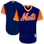 Camiseta Beisbol Hombre New York Mets Players Weekend 2017 Personalizada Azul