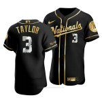 Camiseta Beisbol Hombre Washington Nationals Michael A. Taylor Golden Edition Autentico Negro Oro
