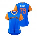 Camiseta Beisbol Mujer Miami Marlins Isaac Galloway 2018 Llws Players Weekend Gallo Light Toronto Blue Jays