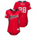 Camiseta Beisbol Mujer All Star Game Majestic Buster Posey 2018 Primera Run Derby National League Rojo