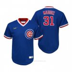 Camiseta Beisbol Nino Chicago Cubs Greg Maddux Cooperstown Collection Road Azul