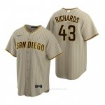 Camiseta Beisbol Hombre San Diego Padres Garrett Richards Replica Alterno Marron