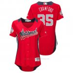 Camiseta Beisbol Mujer All Star Game Majestic Brandon Crawford 2018 Primera Run Derby National League Rojo