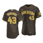 Camiseta Beisbol Hombre San Diego Padres Garrett Richards Autentico Road 2020 Marron