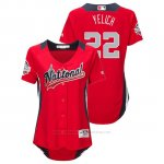 Camiseta Beisbol Mujer All Star Game Majestic Christian Yelich 2018 Primera Run Derby National League Rojo