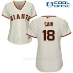 Camiseta Beisbol Mujer San Francisco Giants San Francisco Matt Cain Cool Base Crema